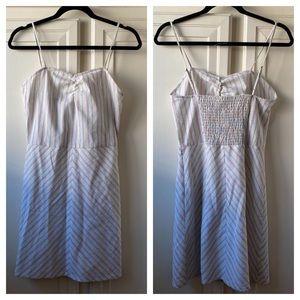 Knot Sisters Striped Linen Mini Sun Dress Sz Small